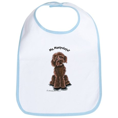 Chocolate Labradoodle Manipulate Bib