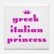 Greek Italian Princess (pink) Tile Coaster