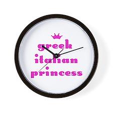 Greek Italian Princess (pink) Wall Clock