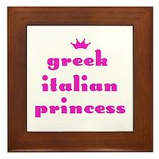 Greek Italian Princess (pink) Framed Tile