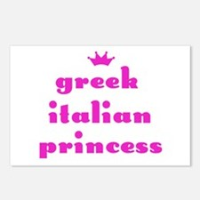 Greek Italian Princess (pink) Postcards (Package o