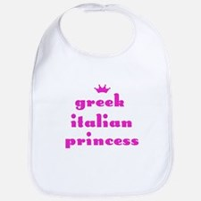 Greek Italian Princess (pink) Bib