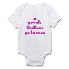 Greek Italian Princess (pink) Infant Creeper
