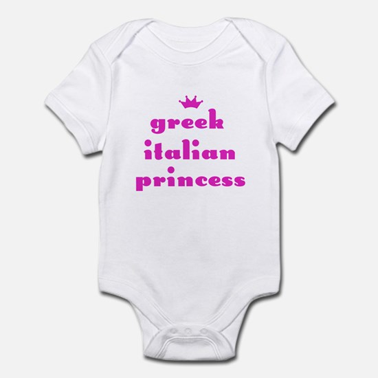 Greek Italian Princess (pink) Infant Creeper