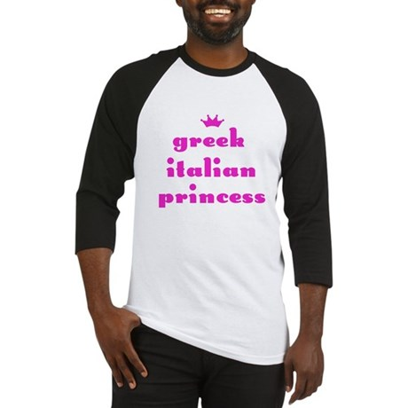 Greek Italian Princess (pink) Baseball Jersey