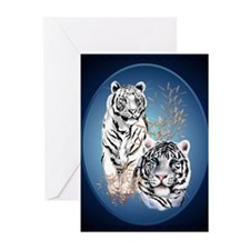 White Tigers Shirts Greeting Cards (Pk of 20)