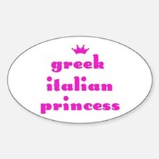 Greek Italian Princess (pink) Oval Decal