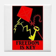 Freedom is Key Tile Coaster