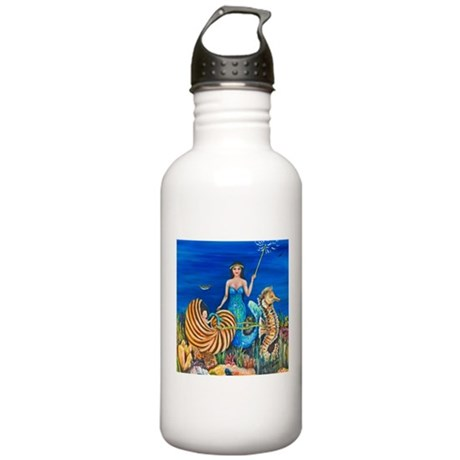 A Mermaids Fairy Godmother Stainless Water Bottle
