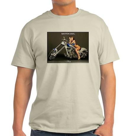 """MotoGirl """"Amy"""" Light T-Shirt"""
