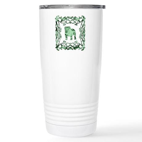 Bulldog Lattice Stainless Steel Travel Mug