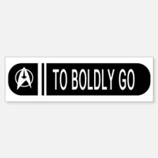 To Boldly Go Car Car Sticker