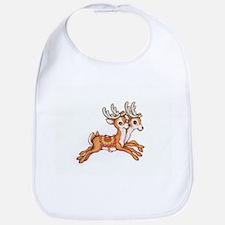 Vintage Christmas Reindeer Bib