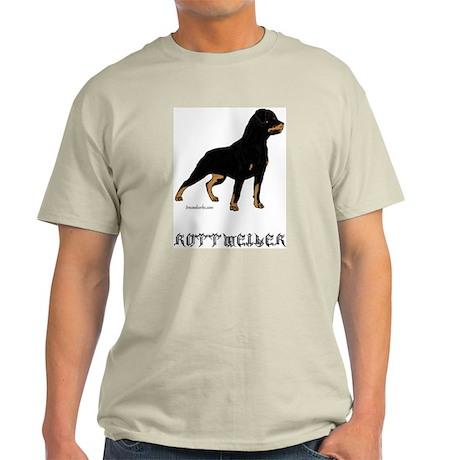 Rottweiler Portrait Ash Grey T-Shirt