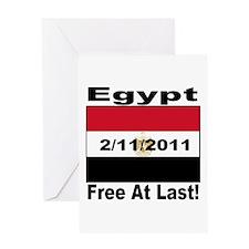 Egypt Free At Last 2/11/2011 Greeting Card
