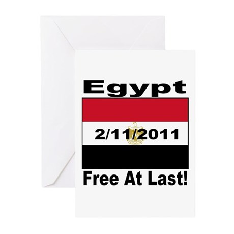 Egypt Free At Last 2/11/2011 Greeting Cards (Pk of