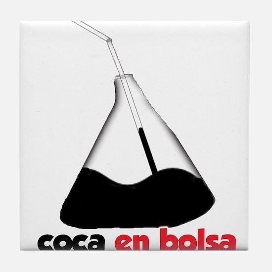 Coca en bolsa Tile Coaster