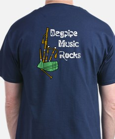 Bagpipe Music Rocks T-Shirt