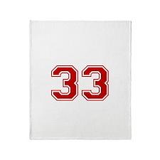 No. 33 Throw Blanket