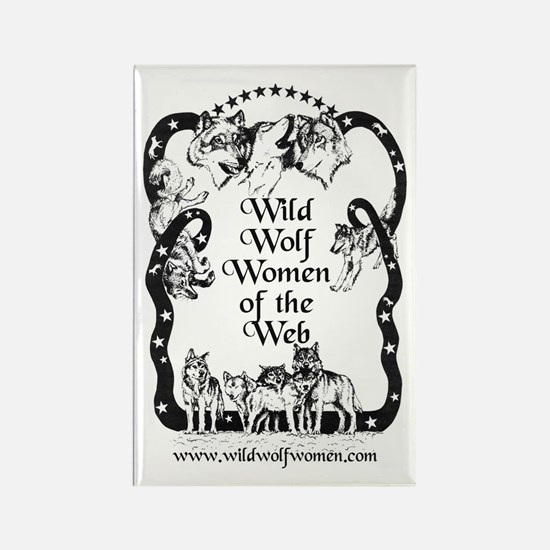 Wild Wolf Women Rectangle Magnet