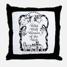 Wild Wolf Women Throw Pillow