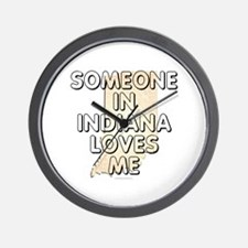 Someone in Indiana Wall Clock