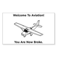 Aviation Broke Style B Decal