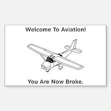 Aviation Broke Style B Sticker (Rectangle)