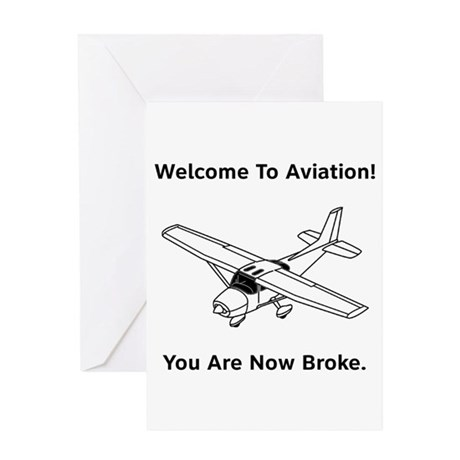 Aviation Broke Style B Greeting Card