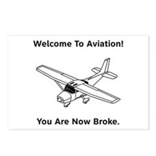 Aviation Broke Style B Postcards (Package of 8)