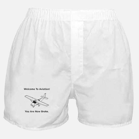 Aviation Broke Style B Boxer Shorts