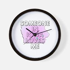Someone in Iowa Wall Clock
