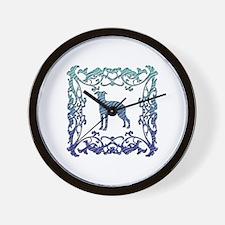 Greyhound Lattice Wall Clock