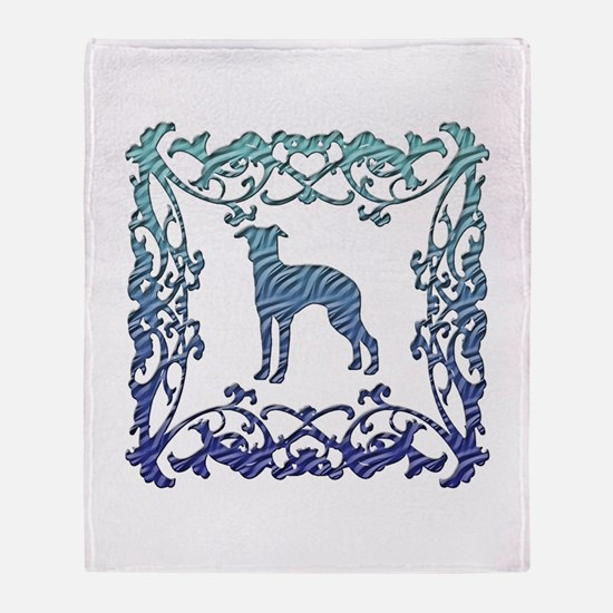 Greyhound Lattice Throw Blanket