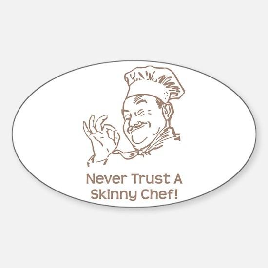 Skinny Chef Sticker (Oval)