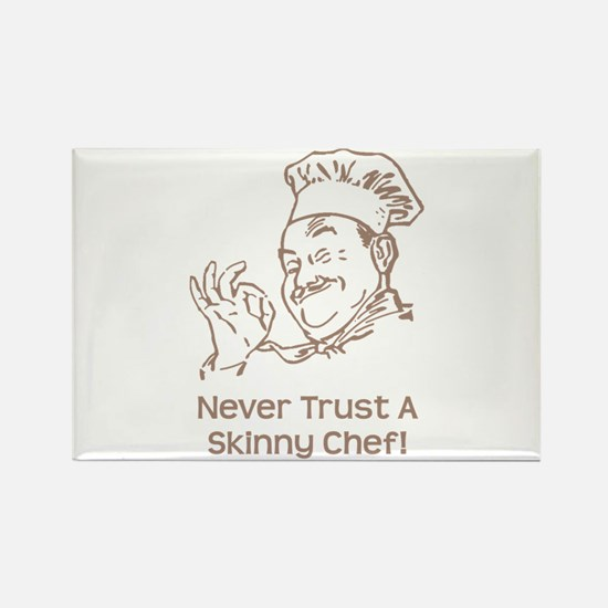 Skinny Chef Rectangle Magnet