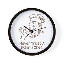 Skinny Chef Wall Clock