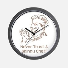 Skinny Chef Wall Clock