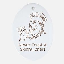 Skinny Chef Ornament (Oval)