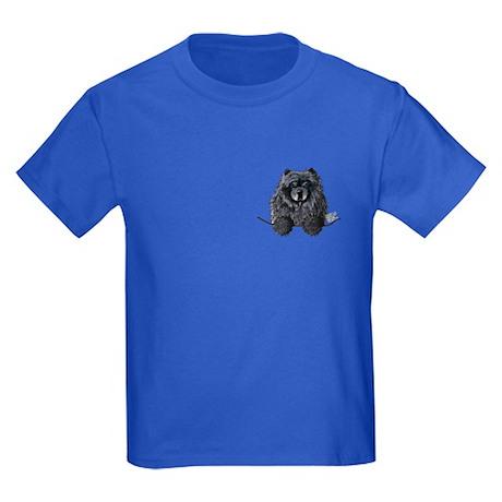 Black Chow Chow Kids Dark T-Shirt