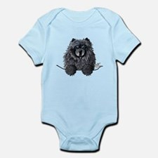 Black Chow Chow Infant Bodysuit
