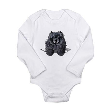 Black Chow Chow Long Sleeve Infant Bodysuit