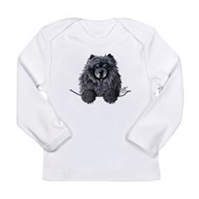 Black Chow Chow Long Sleeve Infant T-Shirt