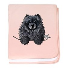 Black Chow Chow baby blanket