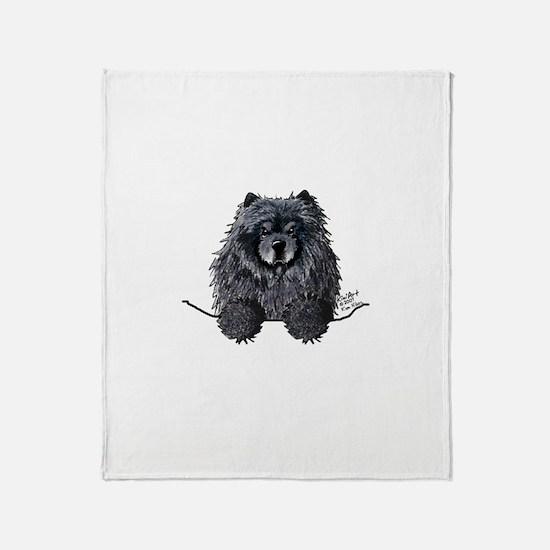 Black Chow Chow Throw Blanket