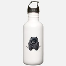 Black Chow Chow Water Bottle