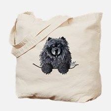Black Chow Chow Tote Bag