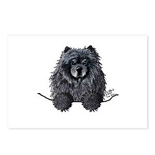 Black Chow Chow Postcards (Package of 8)