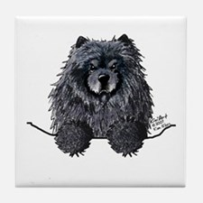 Black Chow Chow Tile Coaster