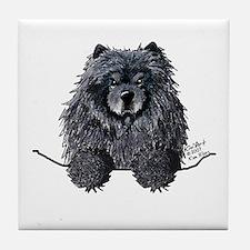 Black Chow Chow Tile Coaster